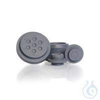 Obturadores de caucho, DURAN® GL 25, Tapón recto, Clorobutilo gris...