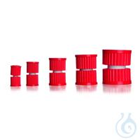 Unión roscada SVS para la unión flexible de dos tubos de vidrio provistos de...
