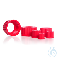 Schraubverbindungsverschluss, GL 45, PBT, rot, Bohrung 34 mm