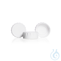 Tapas a rosca de plástico, DURAN® TILT, blanco, en PP, GL 56, con rosca...