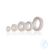 Silicone Sealing Ring, VMQ, with bonded PTFE face DURAN® Silicone Sealing Ring, VMQ, GL 32, with...