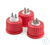 Sistema de conexión GL 25 DURAN, tapa roscada GL 25 en PBT rojo, suplemento...