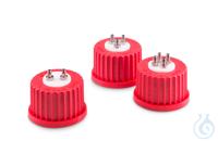 Sistema de conexión GL 32 DURAN®, tapa roscada GL 32 en PBT rojo, suplemento...
