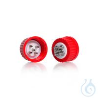 Sistema de conexión GL 45 DURAN®, tapa roscada GL 45 en PBT rojo, suplemento...