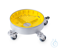 Base potectora de silicona amarilla para carrito transportador de 10 litros...