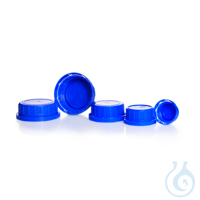 Originalitätsverschlüsse, GL 32 K, PP, blau, für Vierkant-Schraubflaschen, weithalsig