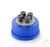 Schraubverschluss, GL 45, PP, für DURAN® Laborglasflaschen, mit 4 Ports, HPLC, komplett mit: 4x...