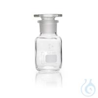 DURAN® Weithals-Standflasche, mit NS 24/20, klar, mit Stopfen, 50 ml