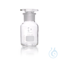 DURAN® Weithals-Standflasche, mit NS 29/22, klar, mit Stopfen, 100 ml