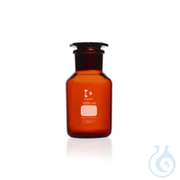DURAN® Reagent Bottle, wide neck, amber, neck with standard ground joint...
