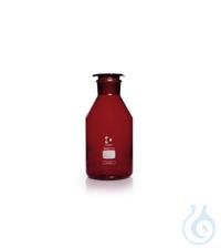 DURAN® Weithals-Standflasche, mit NS 85/55, braun, mit Stopfen, 5000 ml