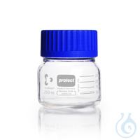 DURAN® GLS 80 Laborglasflasche, protect, weithals, kunststoffummantelt (PU), mit...