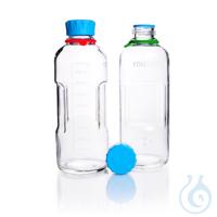 DURAN® YOUTILITY Flasche, GL45, klar, mit Schraubverschluss, Ausgiessring und...