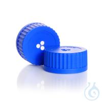 Tapa con membrana, PP, DURAN®, azul, GLS 80®, ePTFE Tamaño de los poros 0,2...