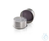 DURAN® tapas rosca de aluminio GL 45, plateado, Juntas de tapa de alta...