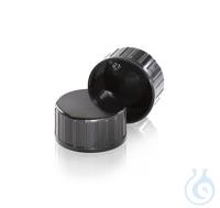 Tapón superior de 45 mm, fenólica Negro DURAN® Tapón superior de 45 mm,...