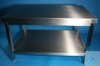Arbeitstisch mit fest eingeschweistem Boden CNS 1 mm, Bodenfreiheit 150 oder...