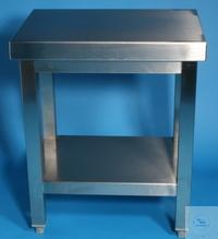 Arbeitstisch mit fest eingeschweißtem Boden CNS 1 mm, Bodenfreiheit 150 oder...