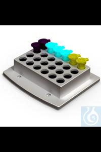 Wechselblock 24 x 5,0 ml Rundbodengefäße Wechselblock 24 x 5,0 ml Rundboden    für 24 5...