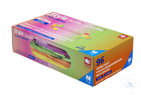 Nitril-Handschuhe Med-Comfort Style Tuttifrutti, puderfrei, Größe L Nitril-Handschuhe Med-Comfort...