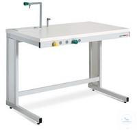 ASEM® Arbeitstisch PSMO120 für aufsetzbaren Labor-Abzug 1200