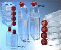CELL CULTURE FLASK, 250 ML, 75 CM², PS,, RED STANDARD SCREW CAP, CLEAR,,...