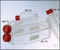 ZELLKULTURFLASCHE, 250 ML, 75 CM², PS,, FILTER-SCHRAUBVERSCHLUSS ROT, TRANSP.,