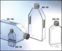 SUSPENSIONSKULTURFLASCHE, 250 ML, PS,, FILTER-SCHRAUBVERSCHLUSS WEISS, TRANSP.,