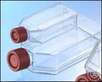 CELL CULTURE FLASK, 250 ML, 75 CM², PS,, CELLCOAT®, FIBRONECTIN, RED FILTER...