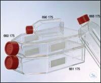 ZELLKULTURFLASCHE, 650 ML, 175 CM², PS,, FILTER-SCHRAUBVERSCHLUSS ROT, TRANSP.,