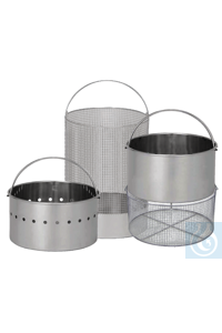 34Articles like: Stainless steel basket HV-L 25 Elektropolished wire mesh basket, inner...