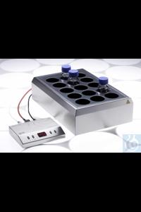 2mag - STIRRING DRYBATH 15-250 Rührheizblock für 15x250 mL Schottflaschen...