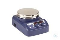 Magneetroerder RSM-10HS, verwarmd, digitaal, roestvrij staal Magneetroerder met verwarming,...