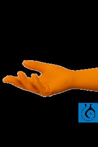 Shieldskin nitriel handschoenen maat L/9 poedervrij 260 mm oranje (10 X 90ST)...