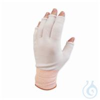20 PAIR Glove Liner, Knit, HalfFinger, Medium