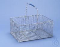 Laborglaskorb, 400 x 300 x 200mm Laborglaskorb aus punktgeschweißtem Drahtgitter,...