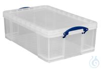 Box, Kunststoff, mit Deckel, 50l Box, Kunststoff, transparent, mit Deckel, Klappgriffe, 710L x...