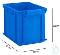 Euro Box, PP, EF 4320, 29,5 L, blau Euro Box Serie EF 4320, aus PP, Inhalt 29,5 L, geschlossene...