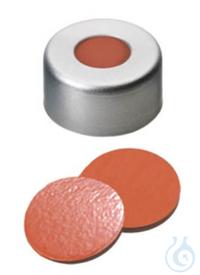 Bördelkappen, Alu, 11 mm, mit Septum,1 mm Naturkautschuk/Butyl/TEF, VE= 100 Stk Bördelkappen,...