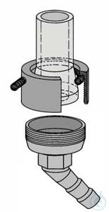 Metalladapter für DN 15, OL 13 mm abgewinkelt Metalladapter für DN 15, OL 13 mm abgewinkelt, HWS,...