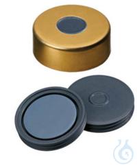 Bördelkappen gold 11 mm, mit Septum, 1mm Naturkautschuk/Butyl/TEF, VE= 1000 Stk Bördelkappen gold...
