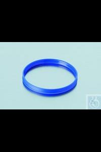 Ausgießring, PP, blau für DIN-Gewinde GL 45, Temperaturbeständig bis +140°C Ausgießring, PP, blau...