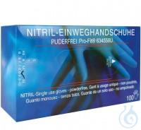 Einweghandschuhe Nitril puderfrei, Gr. M Einweghandschuhe Nitril Pro-Fit, puderfrei, 30 cm, blau,...