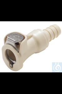 Kupplung mit Absperrventil, für Schlauchanschluss mit 9,5mm Innendurchmesser Kupplung, PP, mit...