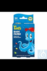 Badewasserfarbe Tinti  VE = 100 St. (25x blau 25x gelb 25x rot 25x grün) Badewasserfarbe Tinti...