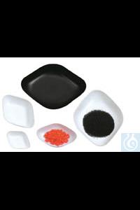 Wägeschalen PS 25 ml, antistatisch, Diamant, 71 x 46 x 14 mm, schwarz, VE = 500 Wägeschalen PS 25...