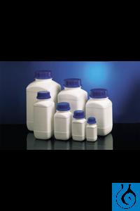 Weithalschemikalienflaschen HDPE weiß 1000 ml, quadr., ohne Verschluss...