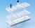 Einsatzgestell für Reagenzgläser und  Polypropylen (PP) weiß, säureund laugenfest, hitzebeständig...