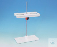 Imhoff cone Racks (2 cones)  PVC white, rack rods 500mm long, height-adjustable, Drillings 98 mm...