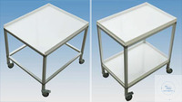Moveable Table (L:70xB:50xH:90)  Material table surface: Polypropylene white, 15 mm...
